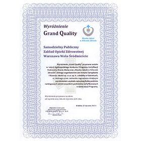 Wyróżnienie Grand Quality